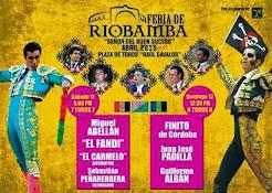 Guillermo Alban anunciado en la feria de Riobamba, el 12/04. Carteles.