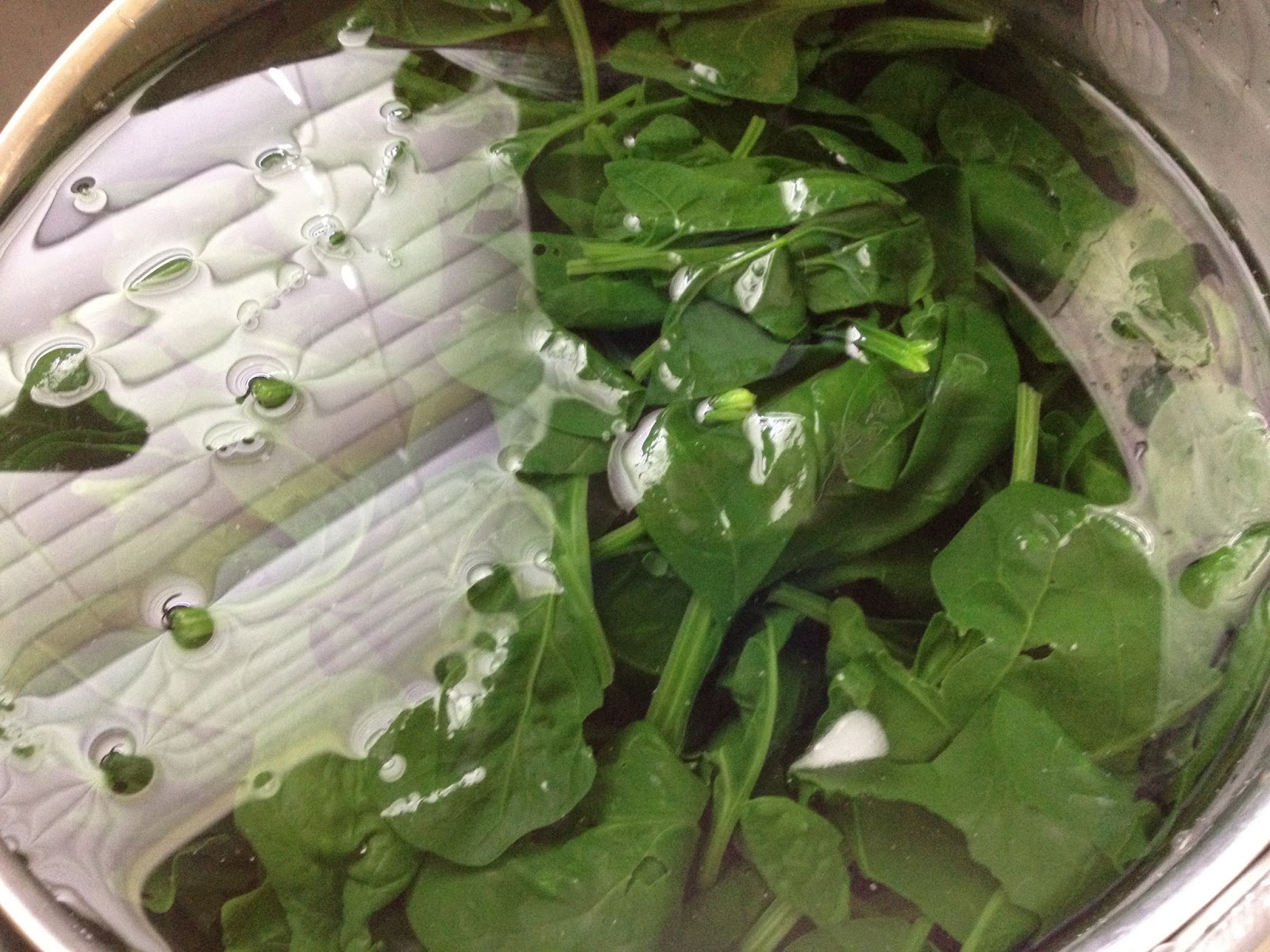 how to prepare spinach for freezing
