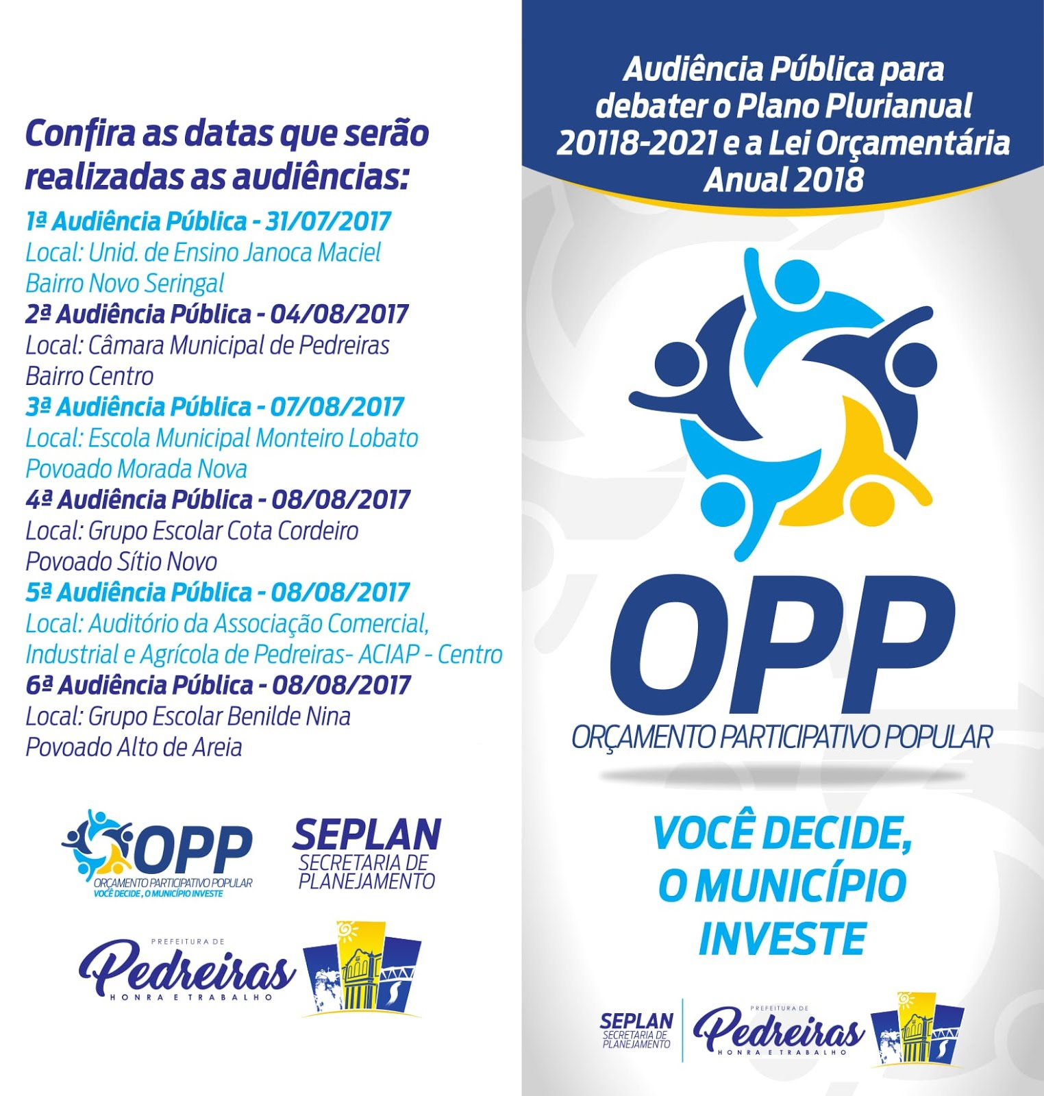 LINKS DO FORMULÁRIO DE PRIORIDADES OPP