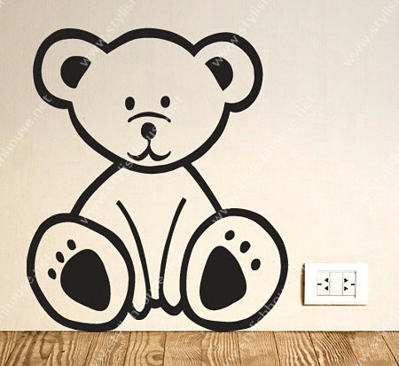 Stylish bear wall stickers for living room walls