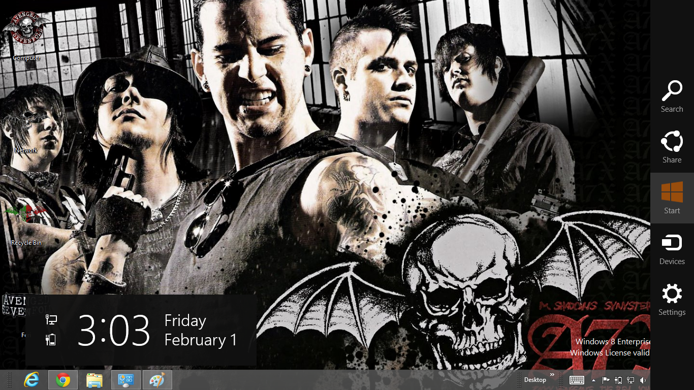 Avenged Sevenflod Theme For Windows 8 | Ouo Themes