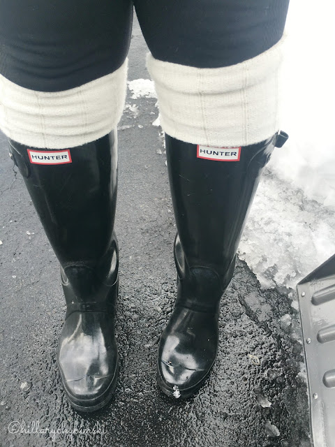 Black Hunter Wellies with Boot Socks