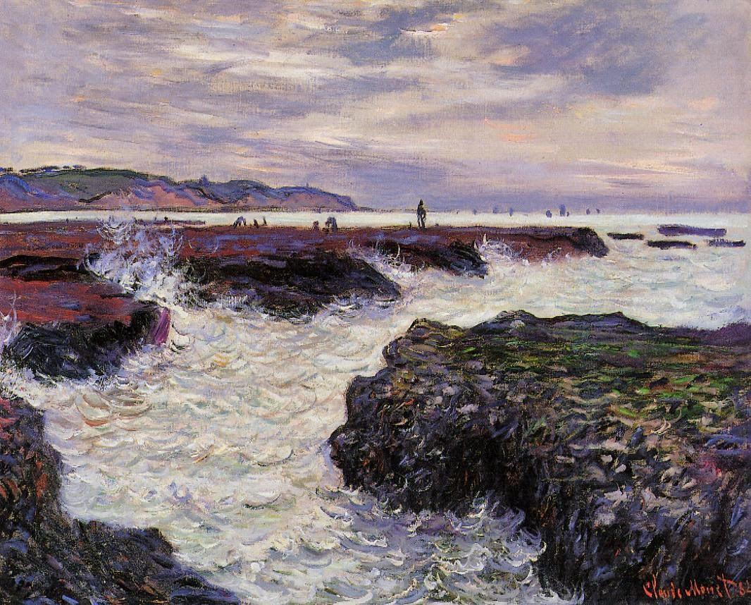 Les Rochers à marée basse, Pourville (1882)