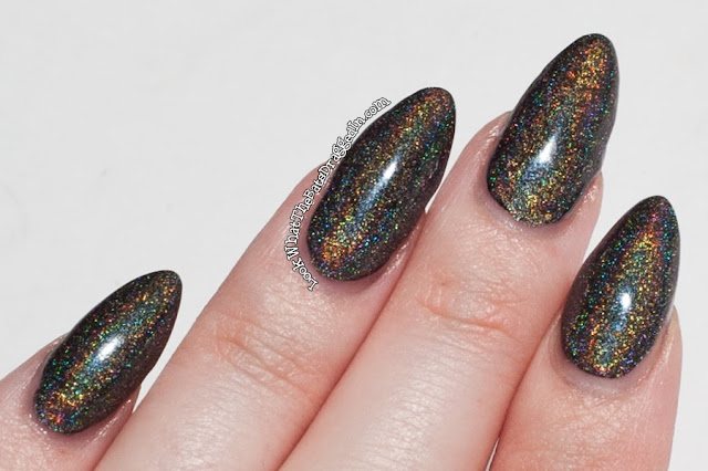 Layla Flash Black nail polish swatch