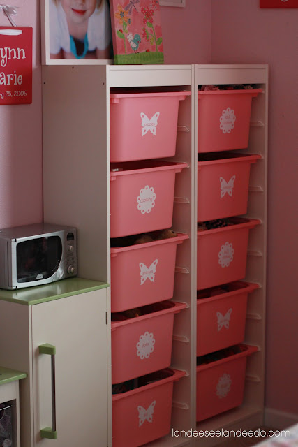 Ikea Hochschrank Wohnzimmer ~   Ikea TROFAST storage unit (just $39!) so her daughter always knows