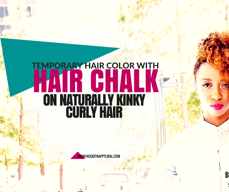 The Hair Chalking Temporary Color Craze How To Use It On Natural