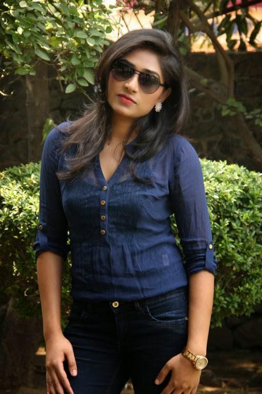 Actress Archana Latest Cute Hot Transparent Blue Top Dress Spicy Photos Gallery At Ponge Ezhu Manohara Team Meet