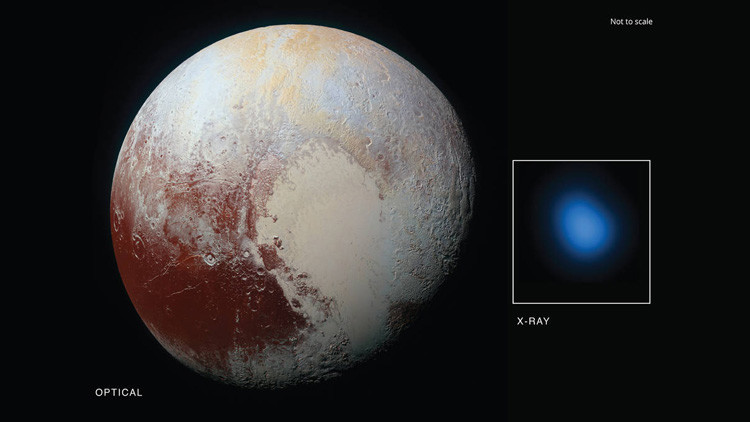 Detectan rayos X procedentes de Plutón