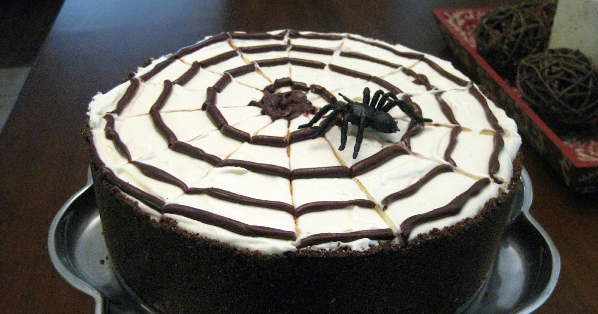 The Hutchins Family Recipes: No Bake Spiderweb Cheesecake