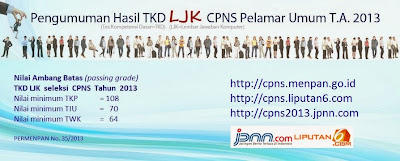 Cek Online Pengumuman Hasil Tes CPNS 2013