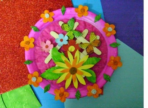 Best out of waste idea wall hanging using paper plate for Best out of waste ideas from ice cream stick