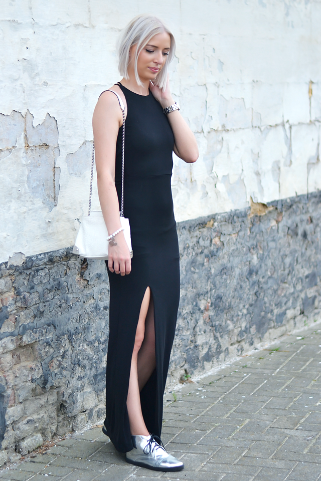 Turn it inside out: Black maxi dress