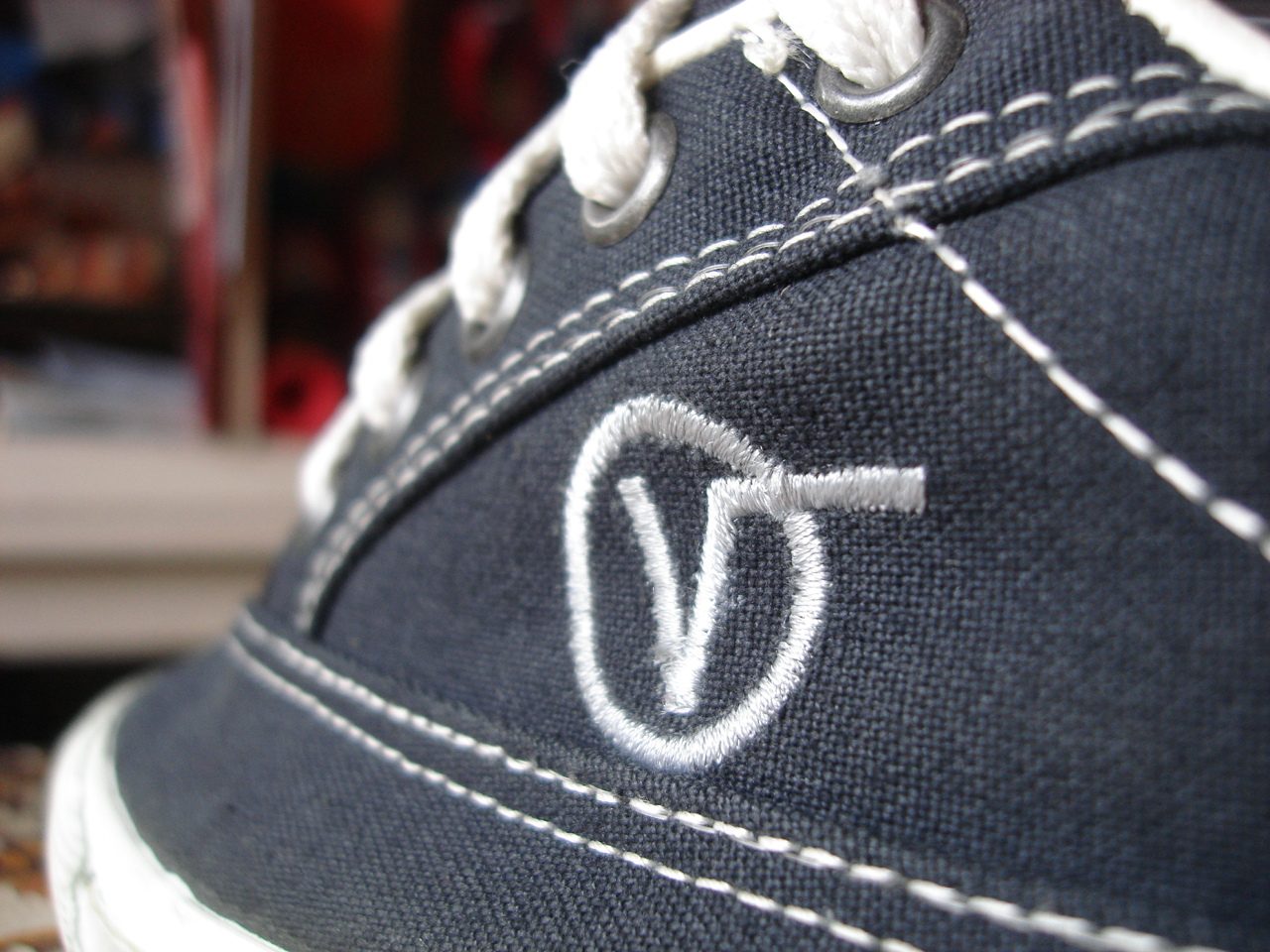 Theothersideofthepillow Vintage Vans Navy Canvas Lace Up
