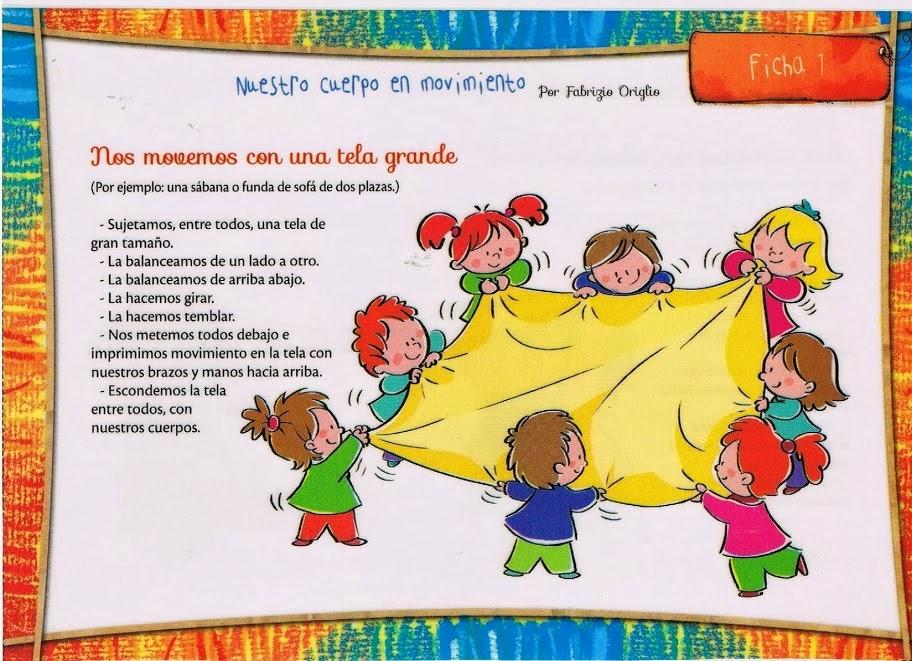 Educaci n infantil juegos de psicomotricidad con telas de - Telas con dibujos infantiles ...