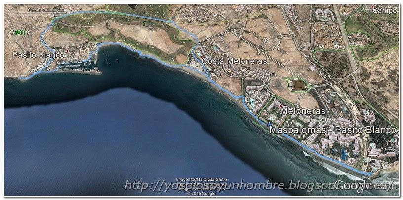Mapa recorrido: Meloneras - Pasito Blanco
