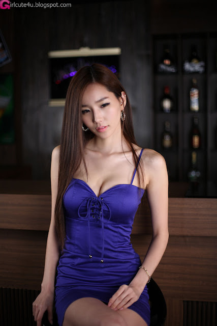 5 Lee Ji Min in Blue-very cute asian girl-girlcute4u.blogspot.com