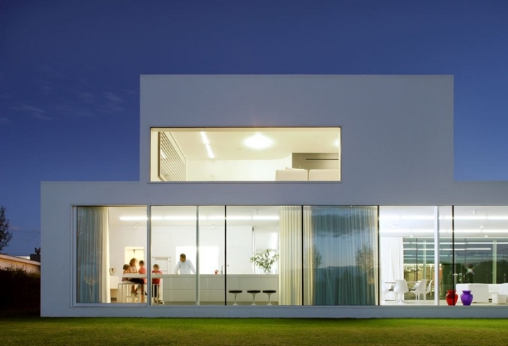 Facade of Minimalist Home by Beel & Achtergael Architects