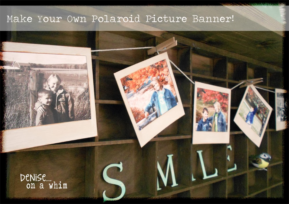 Make Your Own Polaroid Photo Banner via http://deniseonawhim.blogspot.com
