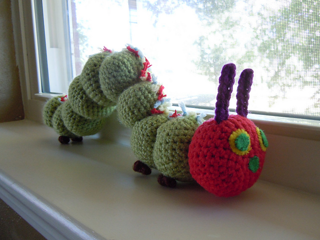 Knitting Pattern Very Hungry Caterpillar : Life is Good: Crochet Caterpillar