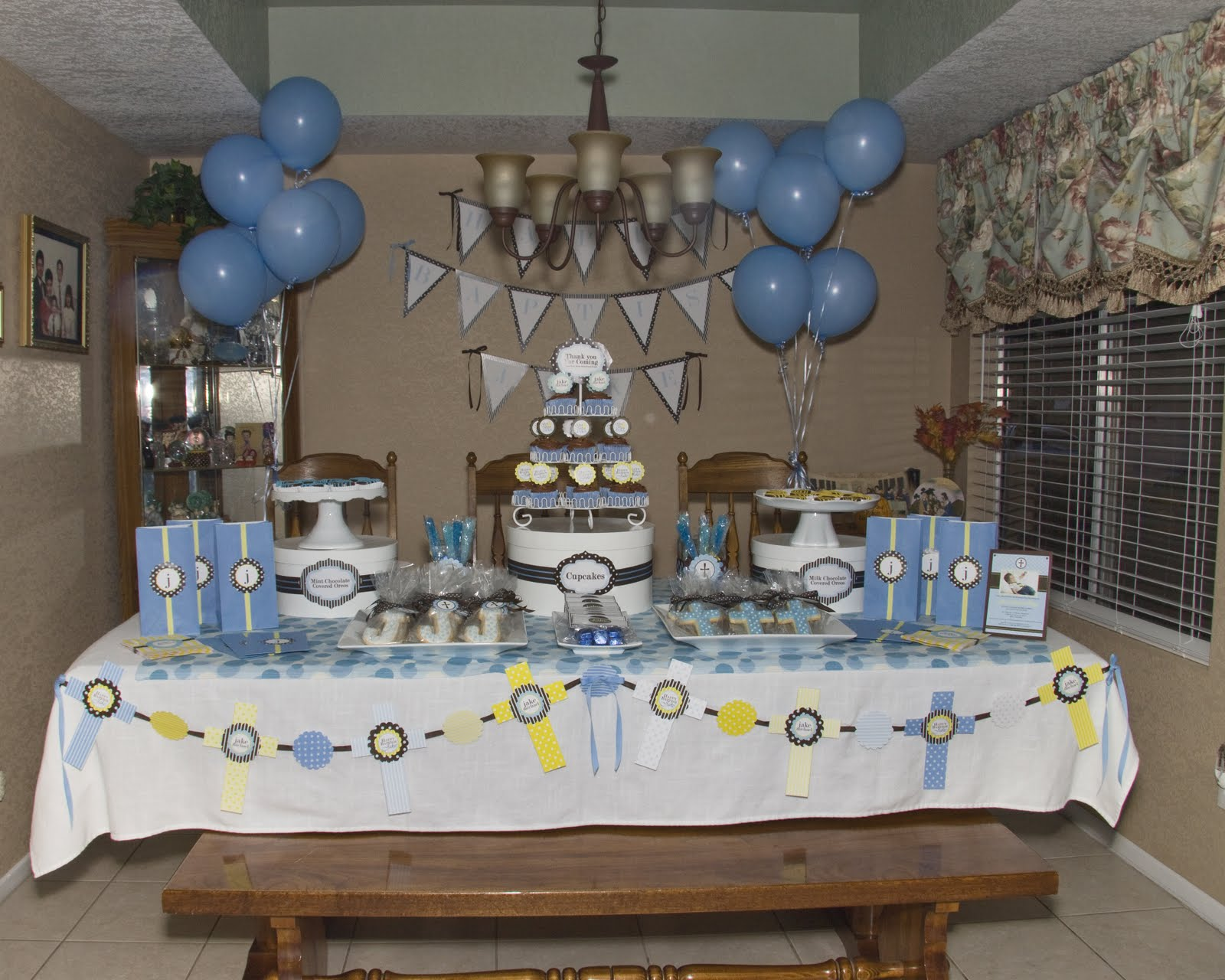 Christening party table cake ideas and designs - Baptism party decoration ideas ...