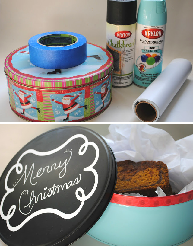 How to to give an old tin a chalkboard make-over! (full tutorial available)