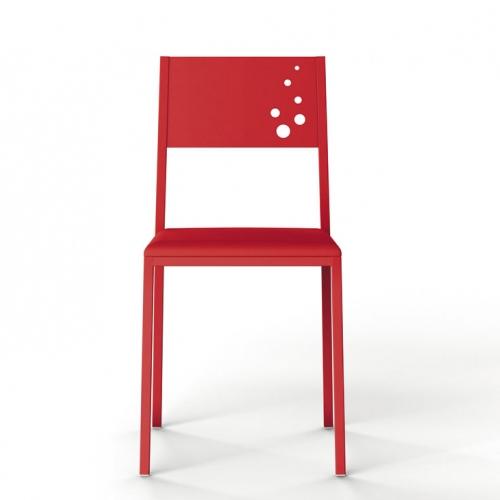 silla cocina color roja