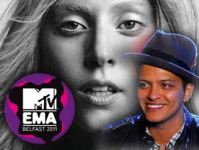 Lady Gaga Bruno Mars and Justin Bieber WIN Big at MTV Europe Music Awards 2011