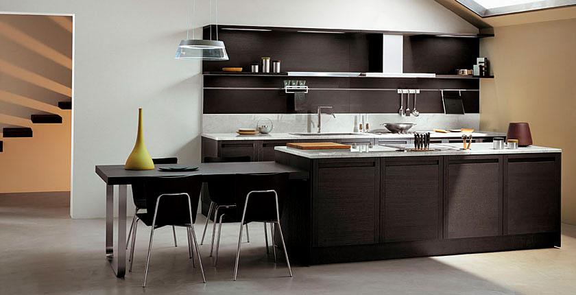Cómo integrar una mesa en la cocina   cocinas con estilo