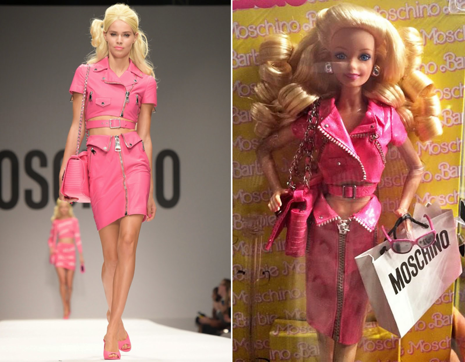 Collecting Fashion Dolls By Terri Gold Barbie Inspired Moschino Runway Show In Milan