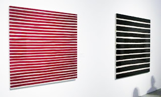 Charles Christopher Hill paintings of stripes.