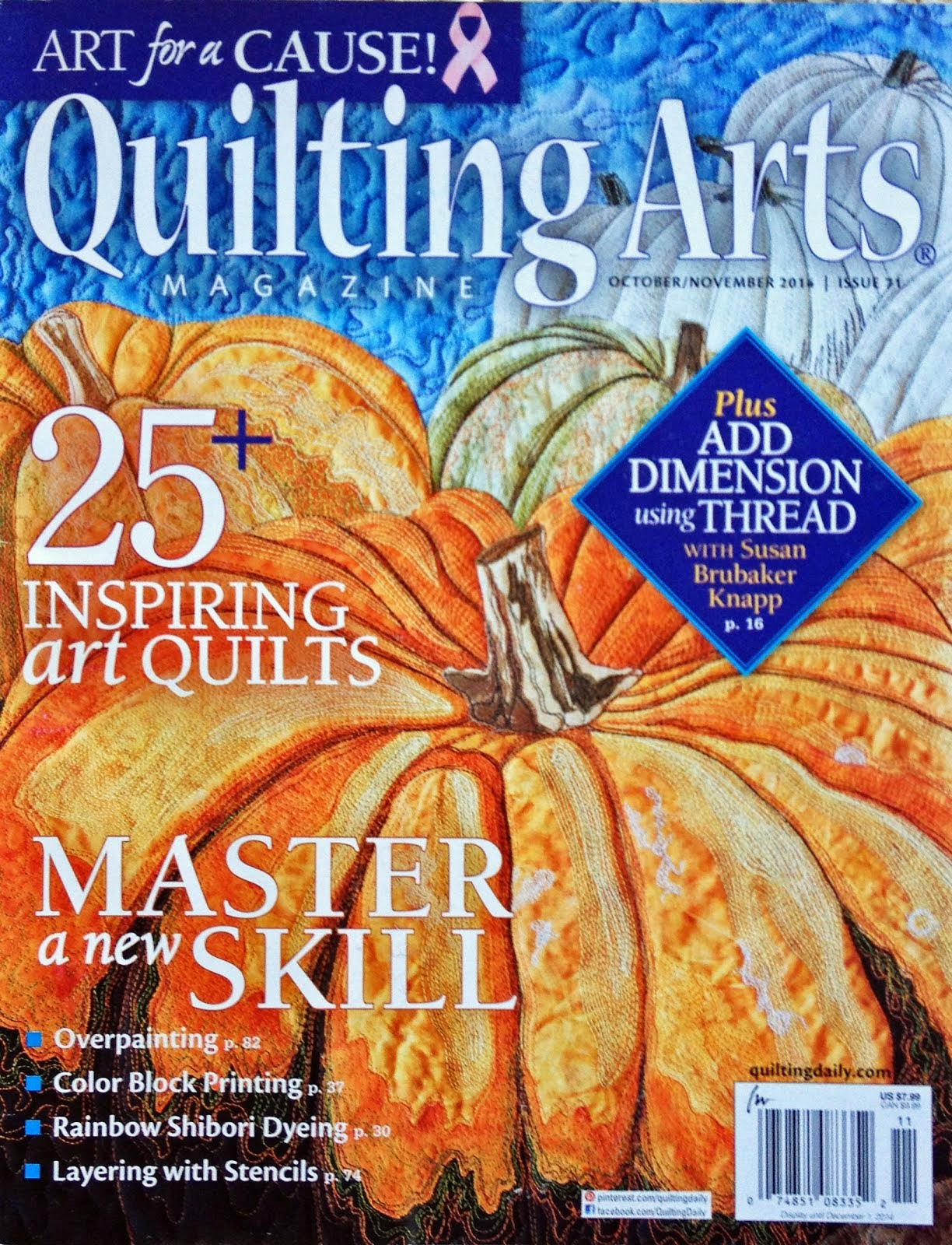 See My Work in Quilting Arts Magazines Oct/Nov 2014
