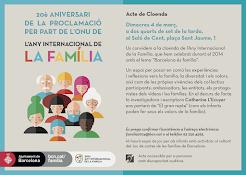 Te invitamos al Acto de Clausura del Año Internacional de la Familia en Barcelona.