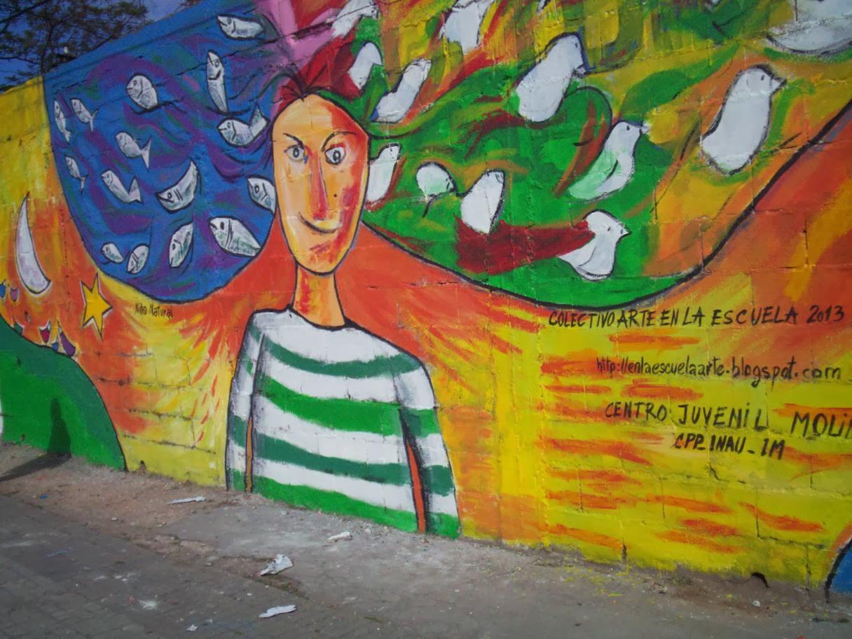 Arte en la escuela intervenciones artisticas mural ni for Arte colectivo mural