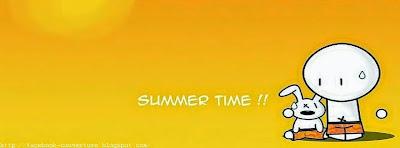 Couverture facebook drôle pour vacance d'été
