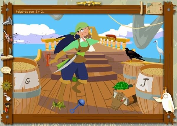 http://juegoseducativosonlinegratis.blogspot.com.es/2013/03/los-piratas-de-la-ortografia-uso-de-j-y.html