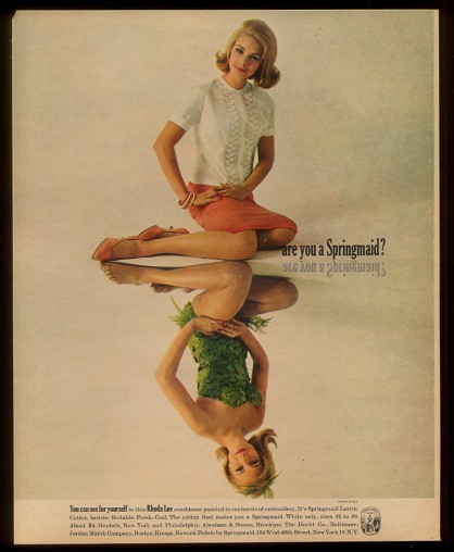 1960s Rhoda Lee advertisement Just Peachy, Darling