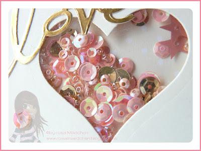 Stampin' Up! rosa Mädchen Kulmbach Schüttelkarte zur Hochzeit in altrose und gold