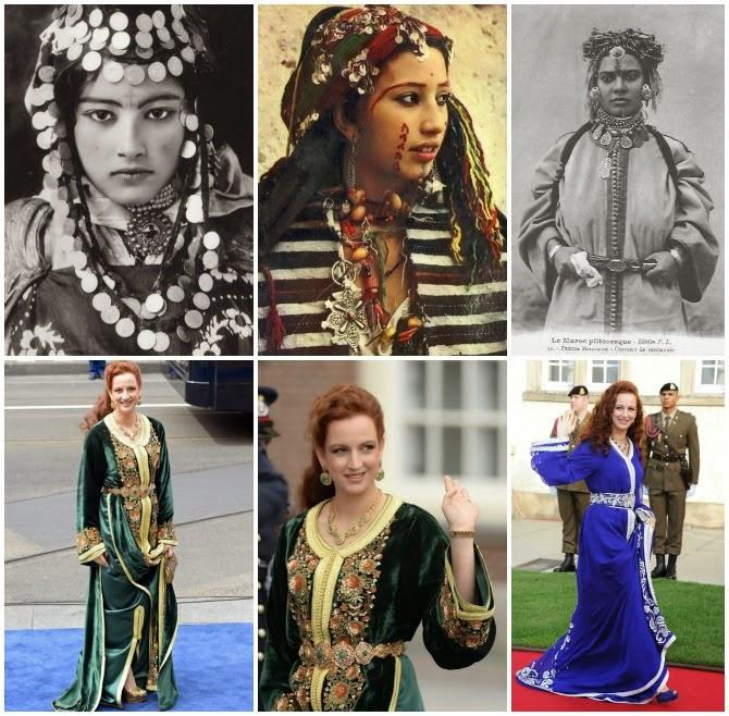 donne berbere con gioielli tradizionali del marocco e la principessa del marocco lala salma