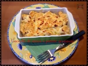 terrina monoporzione di gnocchi di zucca e patate gratinati