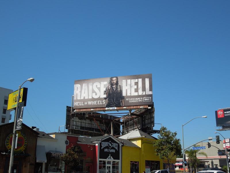 Hell on Wheels season 2 billboard