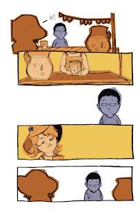 História em quadrinhos sobre amor. Arte e roteiro por Bruno Oliveira.