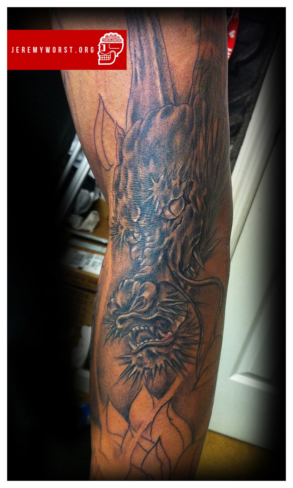 """Jeremy Worst """" Forearm Tattoo"""