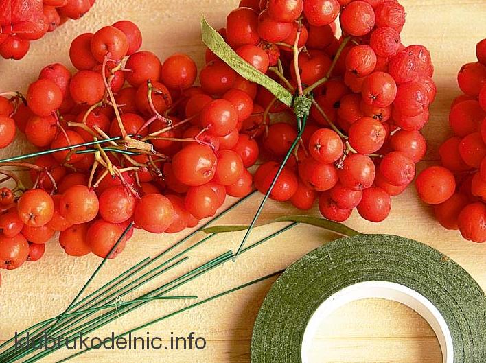 Как сделать декоративные ягоды