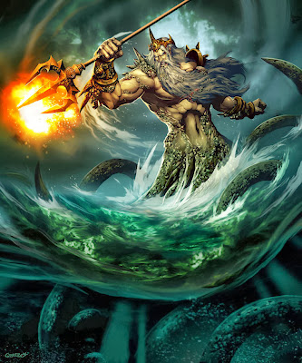 Ilustração Poseidon