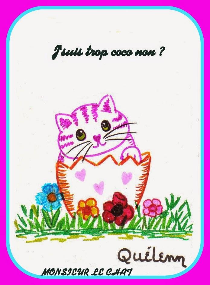 dessin de chat, Paques