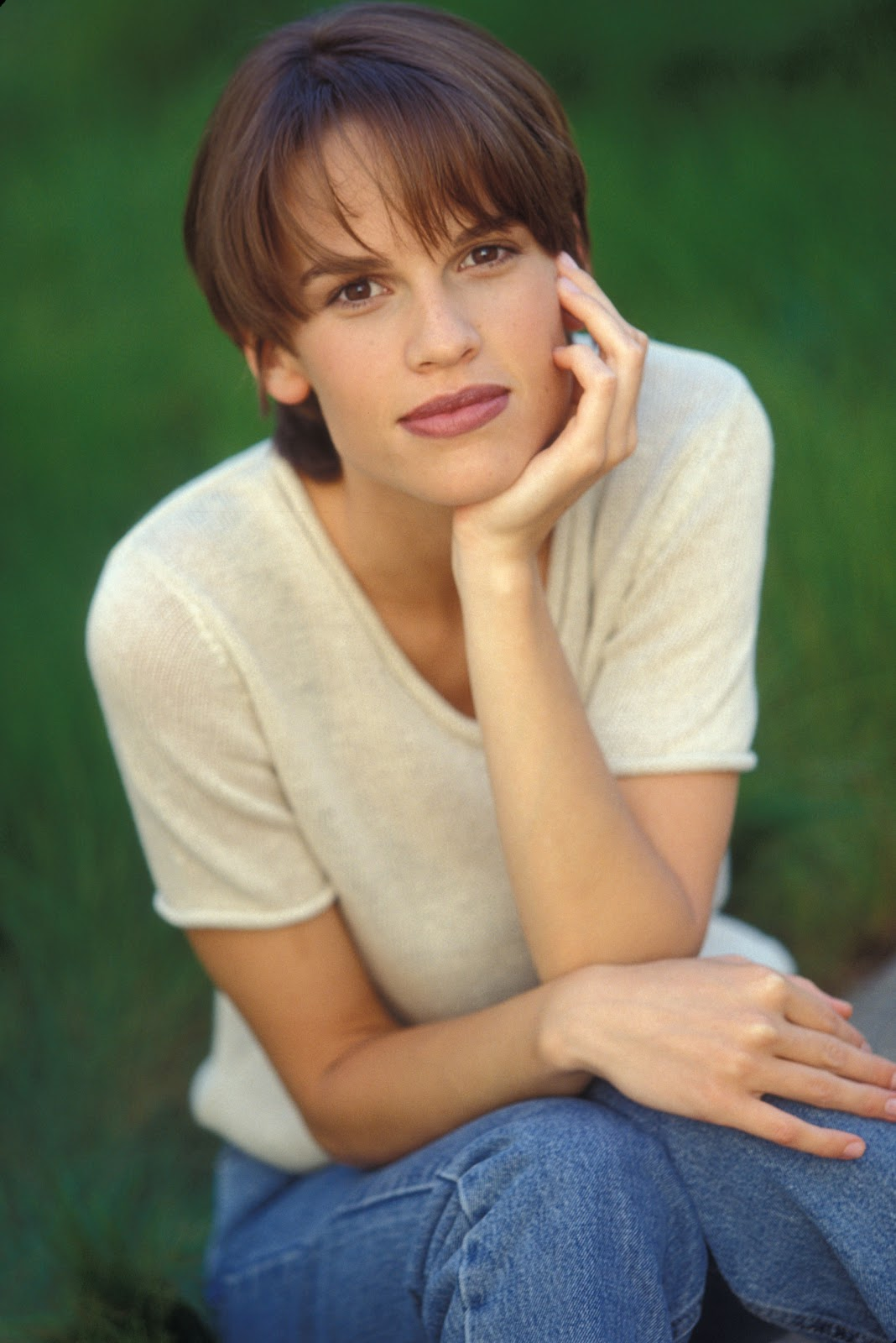 Hilary Swank As Young Girl Photo 1