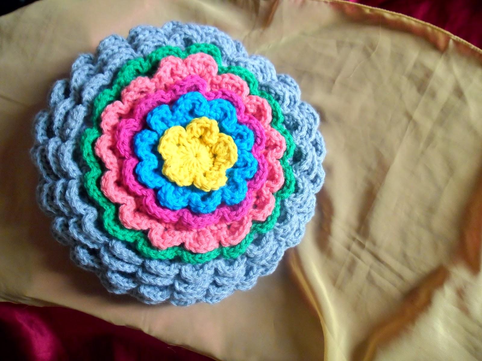 compartiendo crochet: Almohadón flor