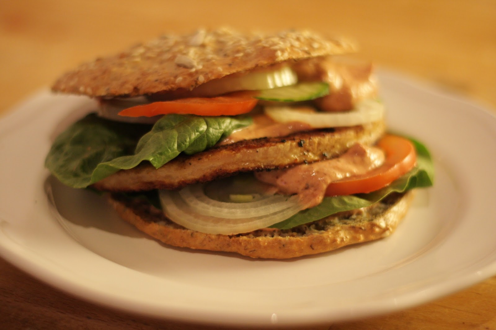 kyckling hamburgare recept