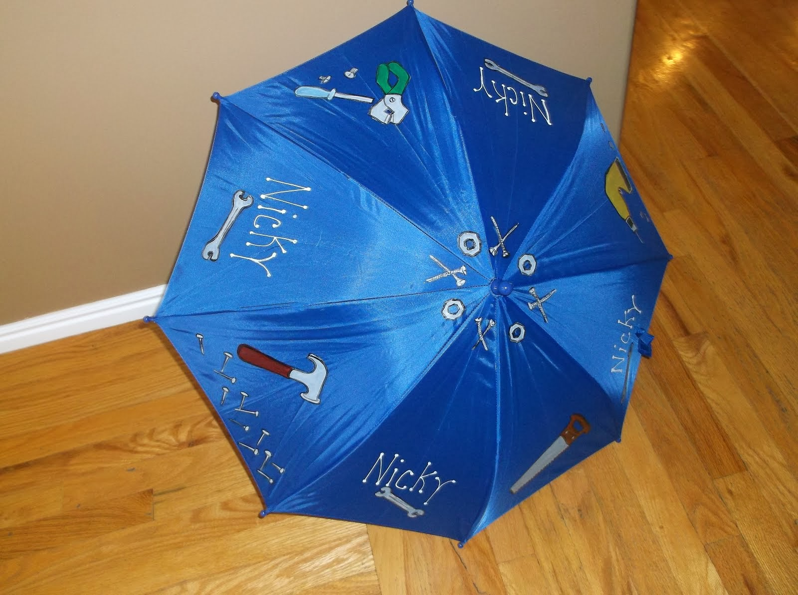 blue boys umbrella