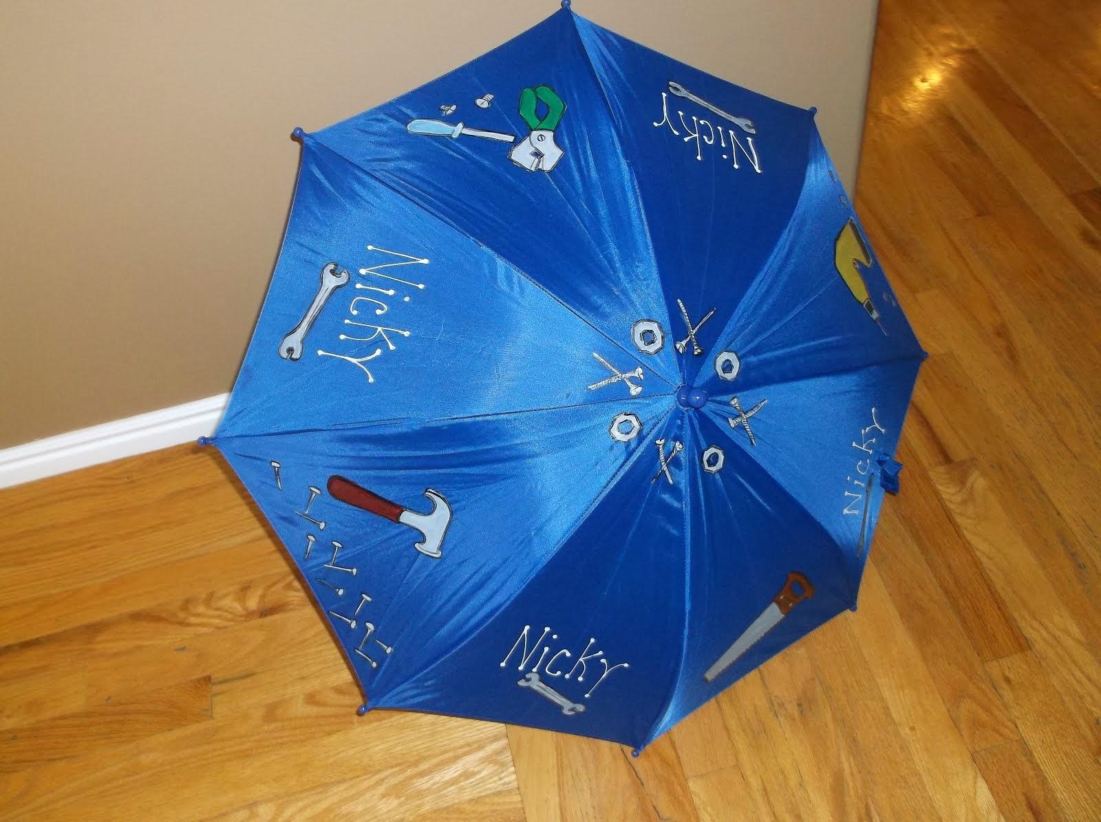blue boys umbrella